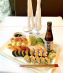 SUSHI FOR LOVERS (2 persons) INCLUDING 1/2 bottle (300ml) of Premium Saké
